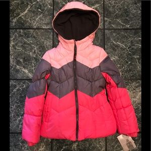 London Fog Puffer Coat with Scarf